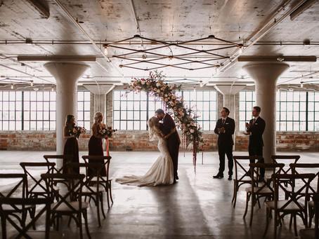 Warehouse Wedding Inspiration at the HarMac | Cedar Rapids, Iowa