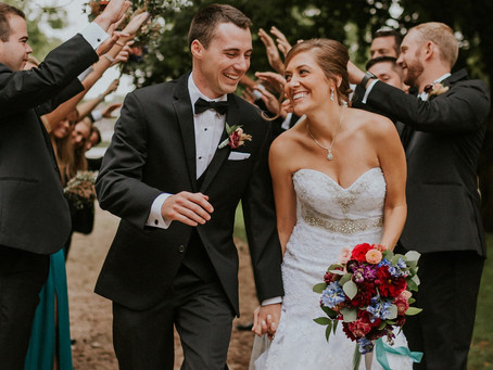 Earthy Jewel Toned Wedding at Little Lights on the Lane | West Branch, IA
