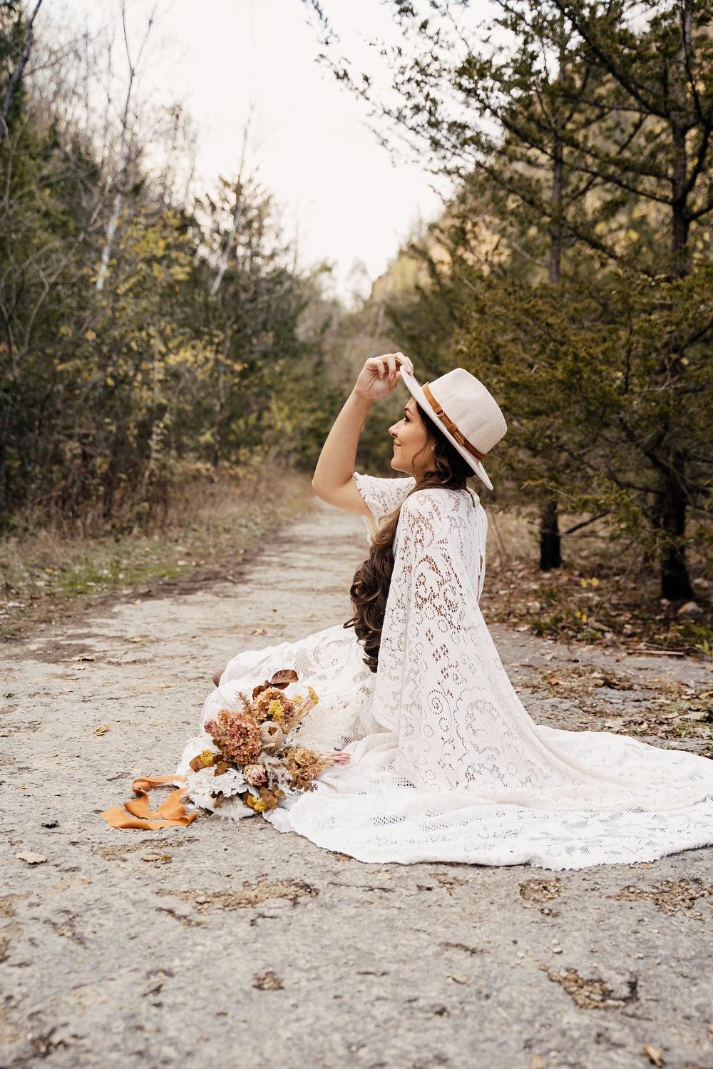 Studio Bloom floral boho bride at Mines of Spain