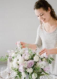 wedding florist Tiffany Landuyt owner of Studio Bloom Iowa