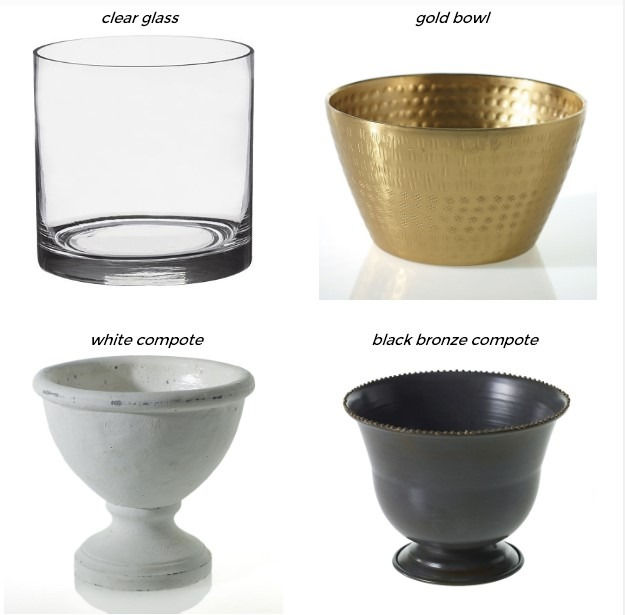 centerpiece vase options