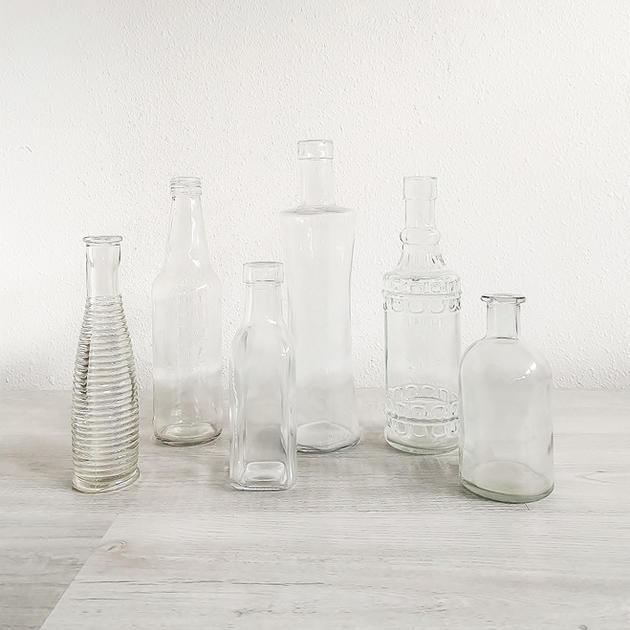 clear glass budvase assortment
