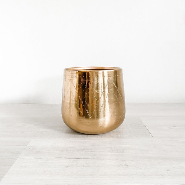 tulum gold metal vase