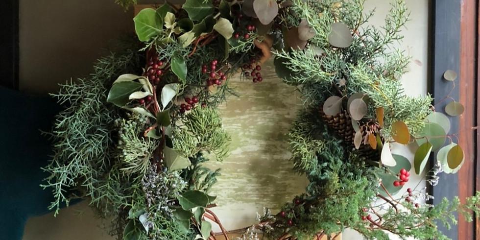 森の恵みでクリスマスリースをつくろう!