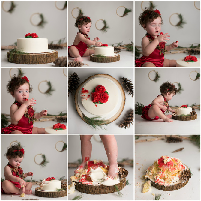 OLIVIA'S 1ST BIRTHDAY! CAKE SMASH - HUDSON, MA. BABY PHOTOGRAPHY