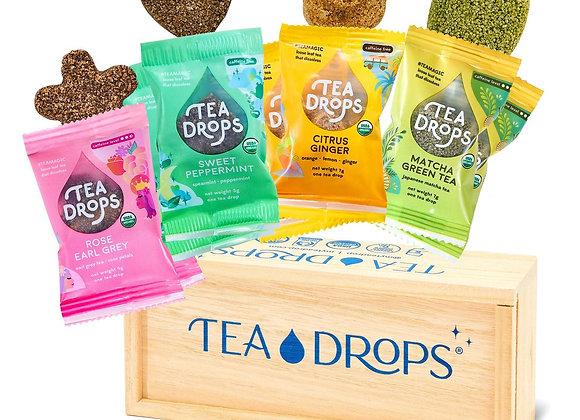 Tea Drops  Wooden Assortment Box