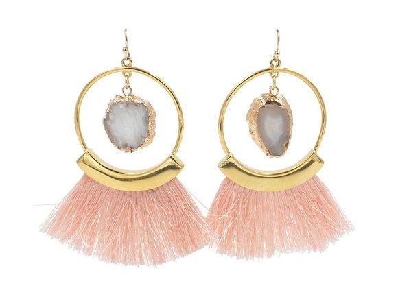 Agate Fringe Earrings