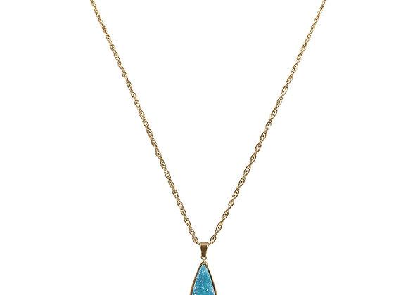 Azure Quartz Drop Necklace