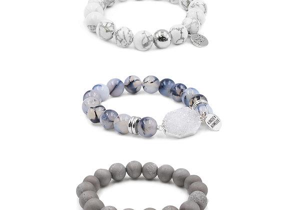 Silver Mist Bracelet Stack