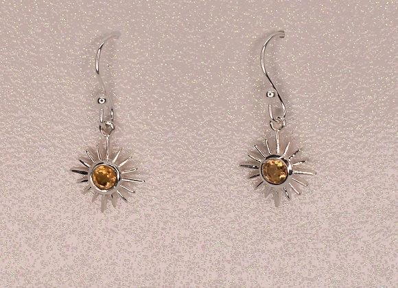 Citrine Happy Sunburst Earrings