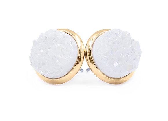 Pearl Quartz Stud Earrings