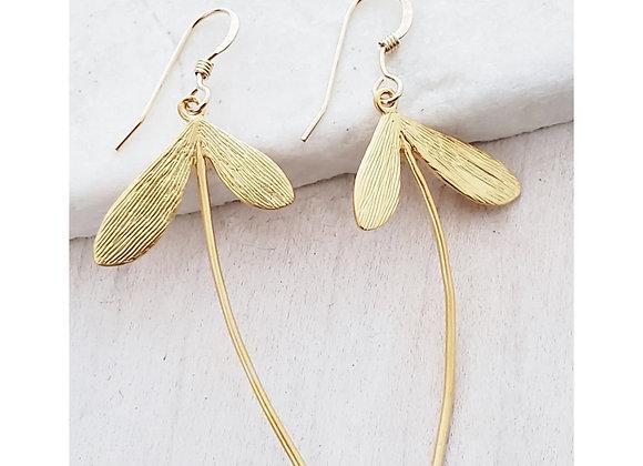 Gold Dandelion Earrings