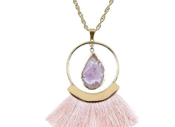 Agate Fringe Necklace