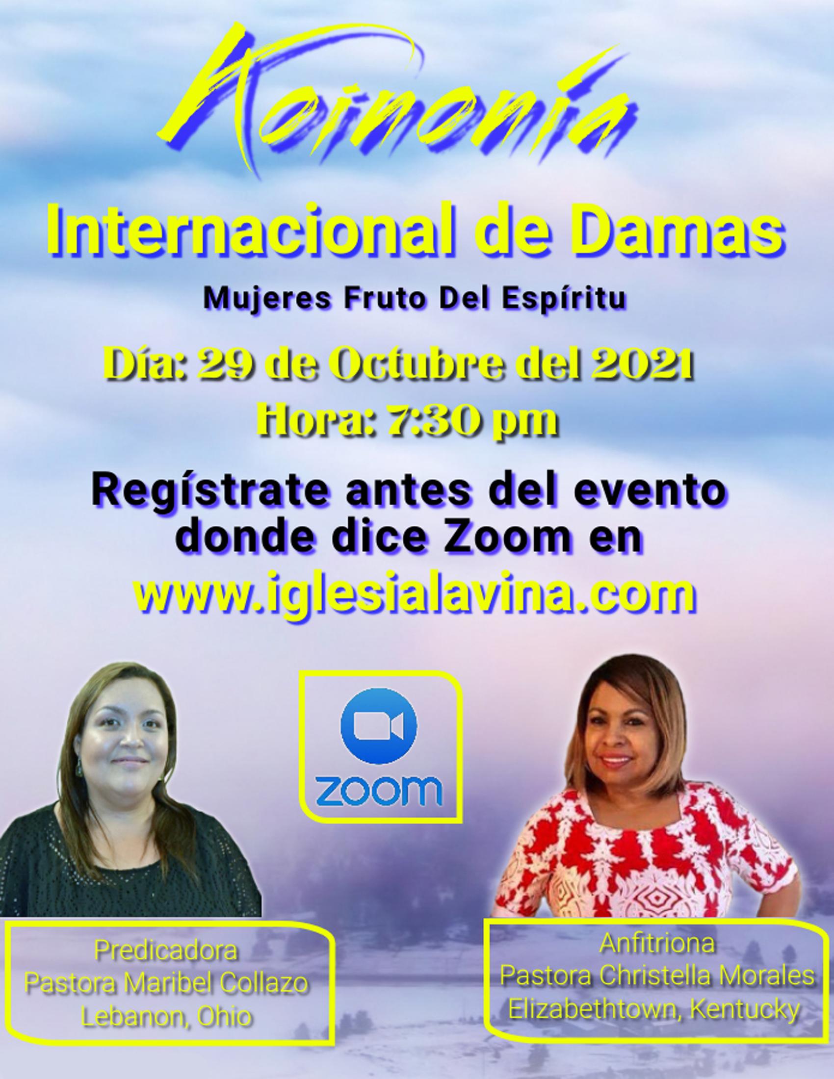 Koinonia de Damas 10-29-2021 Pastora Mar