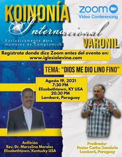 Koinonía 8-19-2021 - Pastor Carlos Sanab