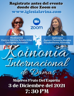 Koinonia de Damas 12-3-2021 Pastora Patr