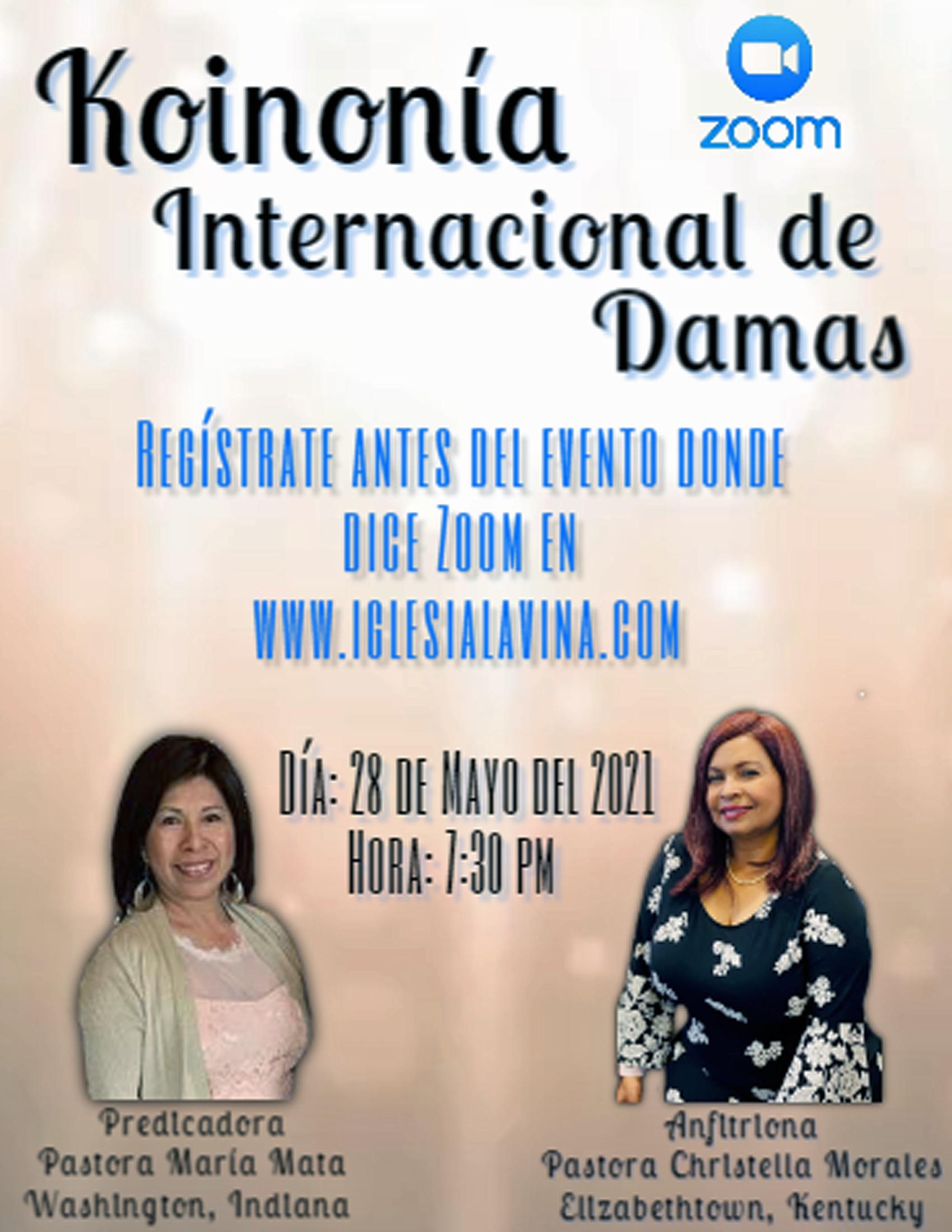 Koinonia de Damas 5-28-2021 - Pastora Ma