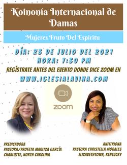 Koinonia de Damas 7-23-2021 - Pastora-Pr