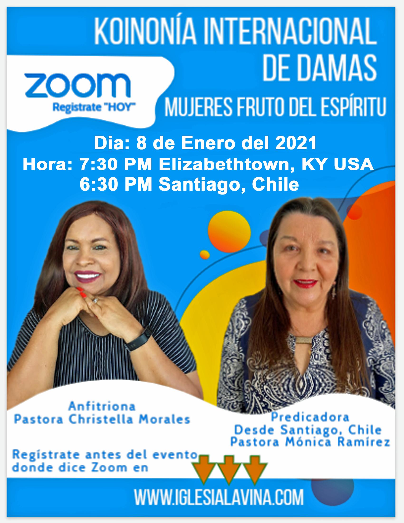 Koinonia de Damas 1-8-2021 Pastora Monic