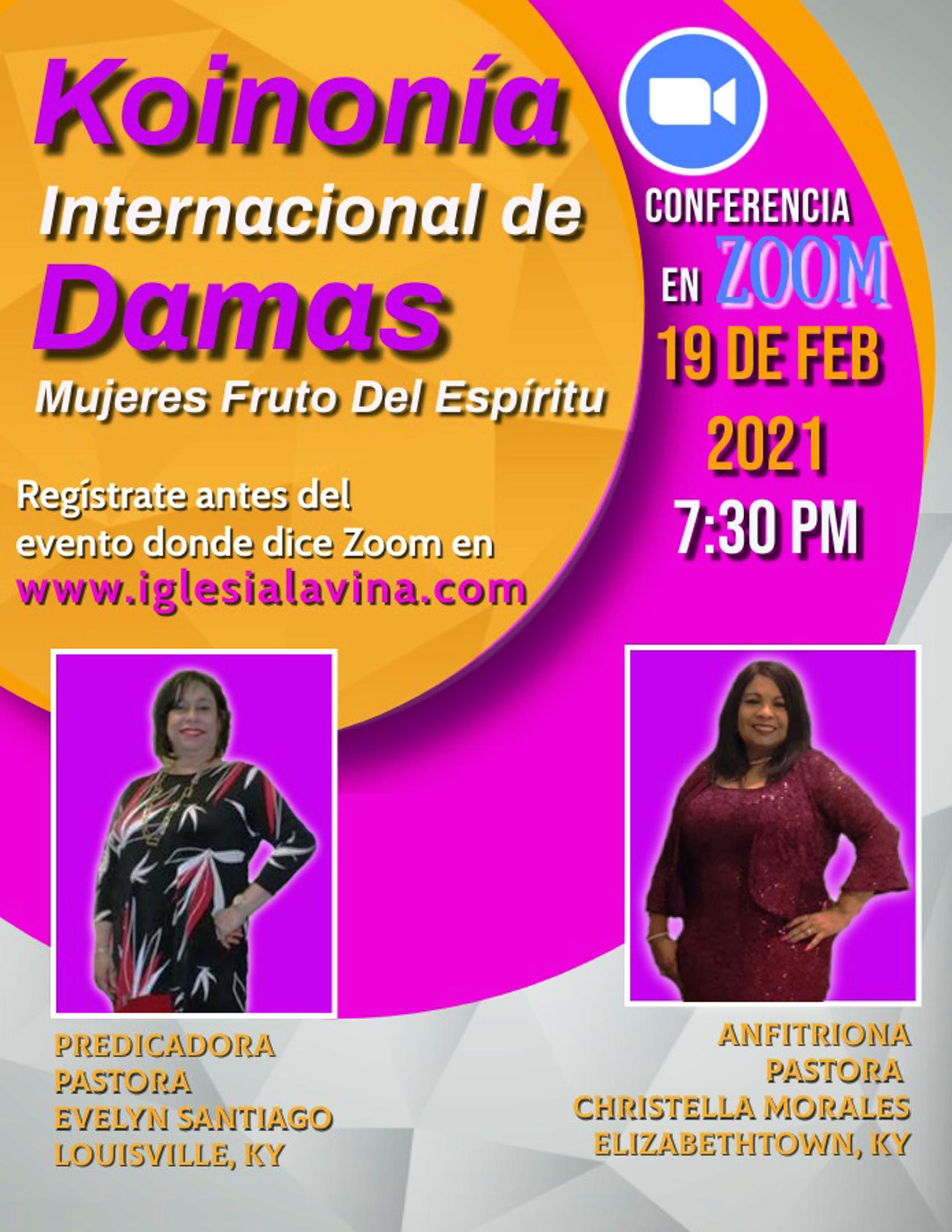 Koinonia de Damas 2-19-2021 - Pastora Ev