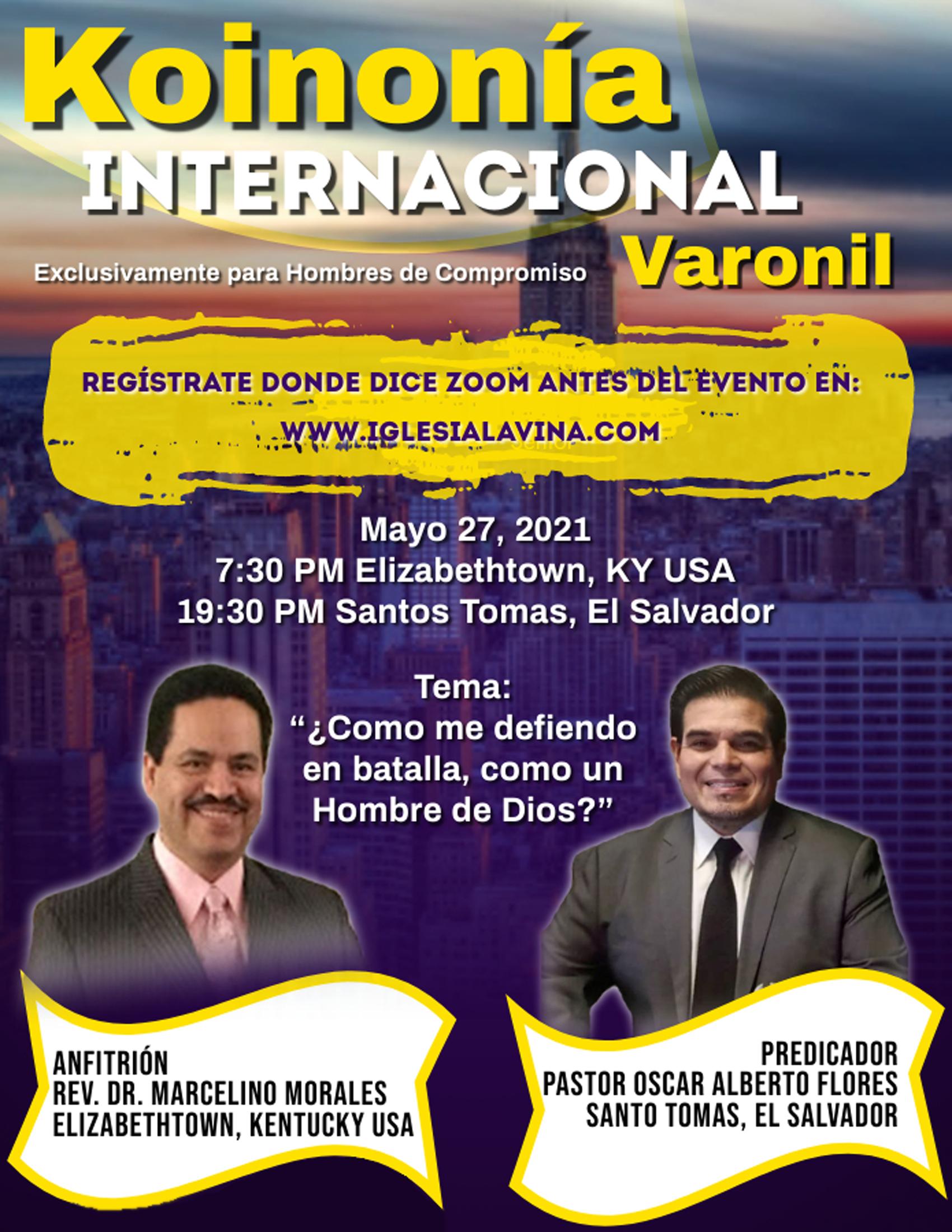 Koinonía 5-27-2021 - Pastor Oscar Albert