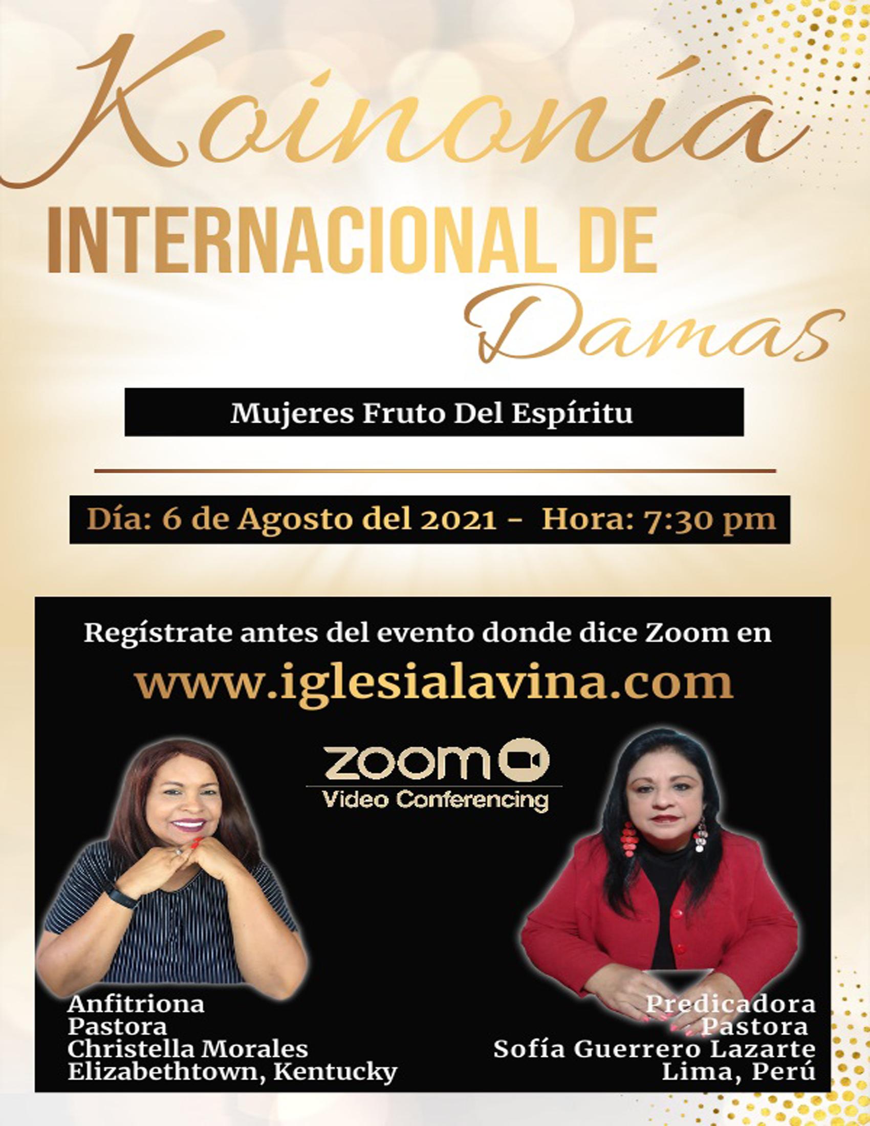 Koinonia de Damas 8-6-2021 - Pastora Sof