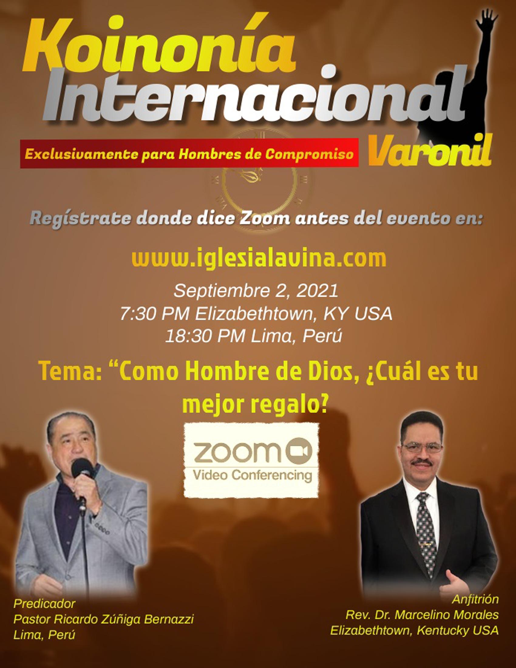 Koinonía 9-2-2021 - Pastor Ricardo Zúñig