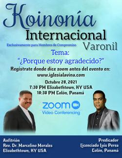Koinonía 10-28-2021 - Lcdo. Luis Perea – Colón, Panamá