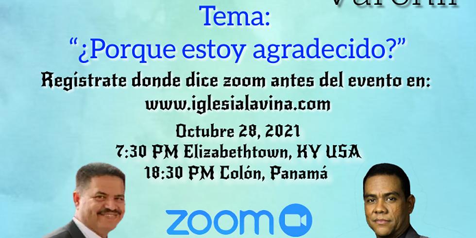 Koinonía Internacional Varonil – Lcdo. Luis Perea desde Colón, Panamá