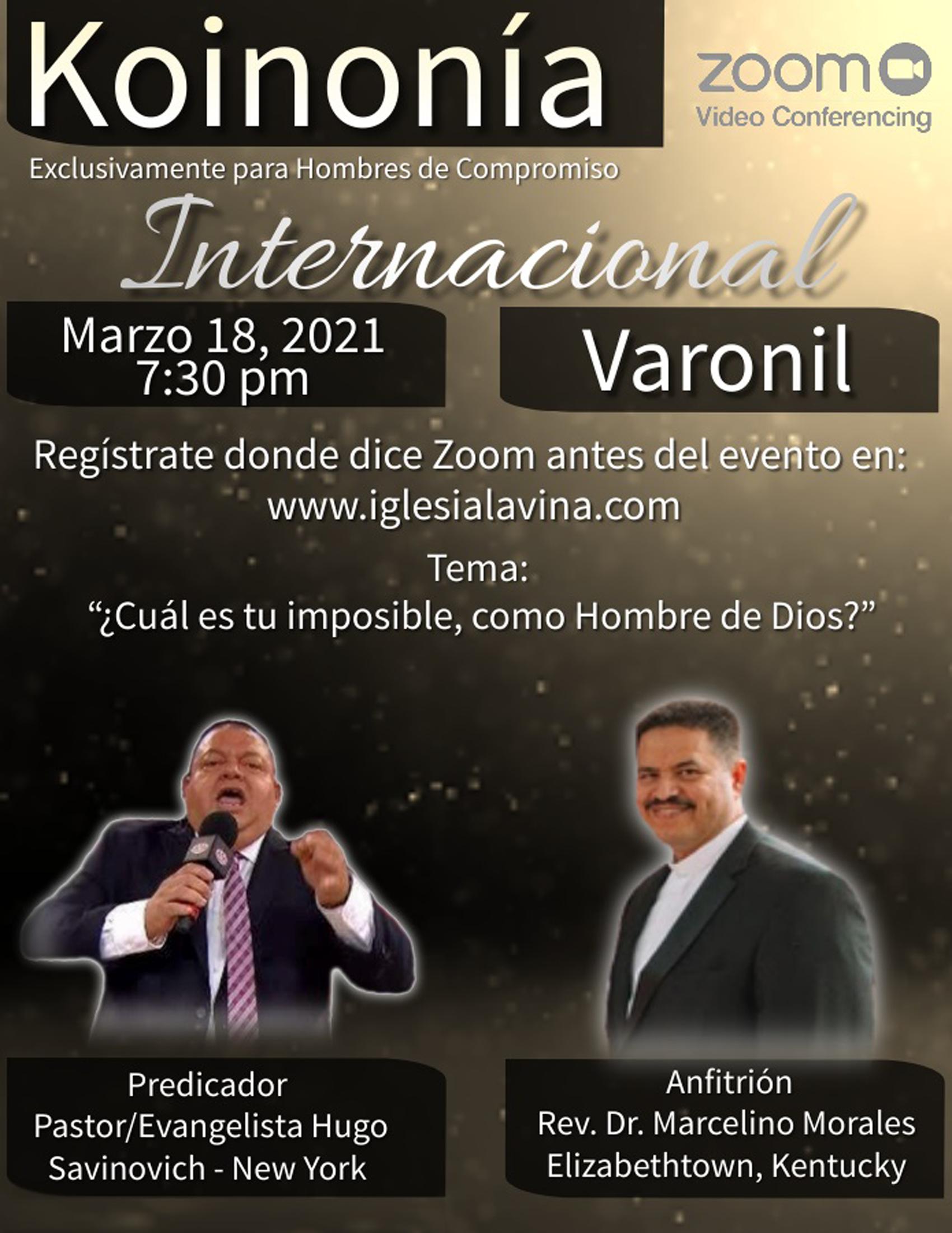 Koinonía 3-18-2021 - Pastor-Evangelista
