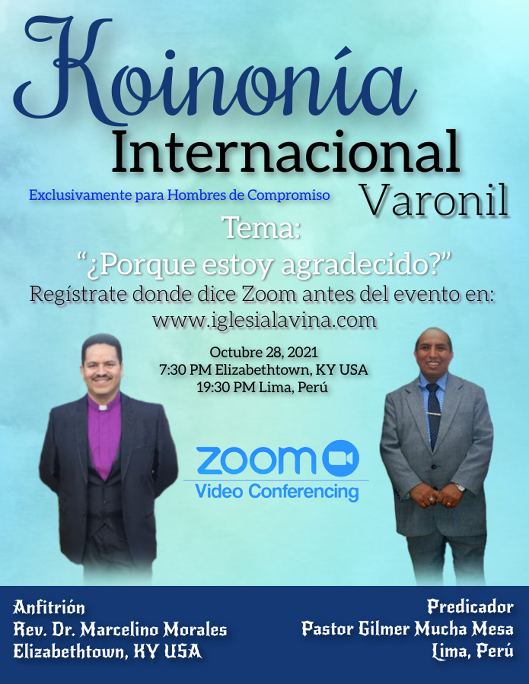Koinonía 10-28-2021 - Pastor Gilmer Much