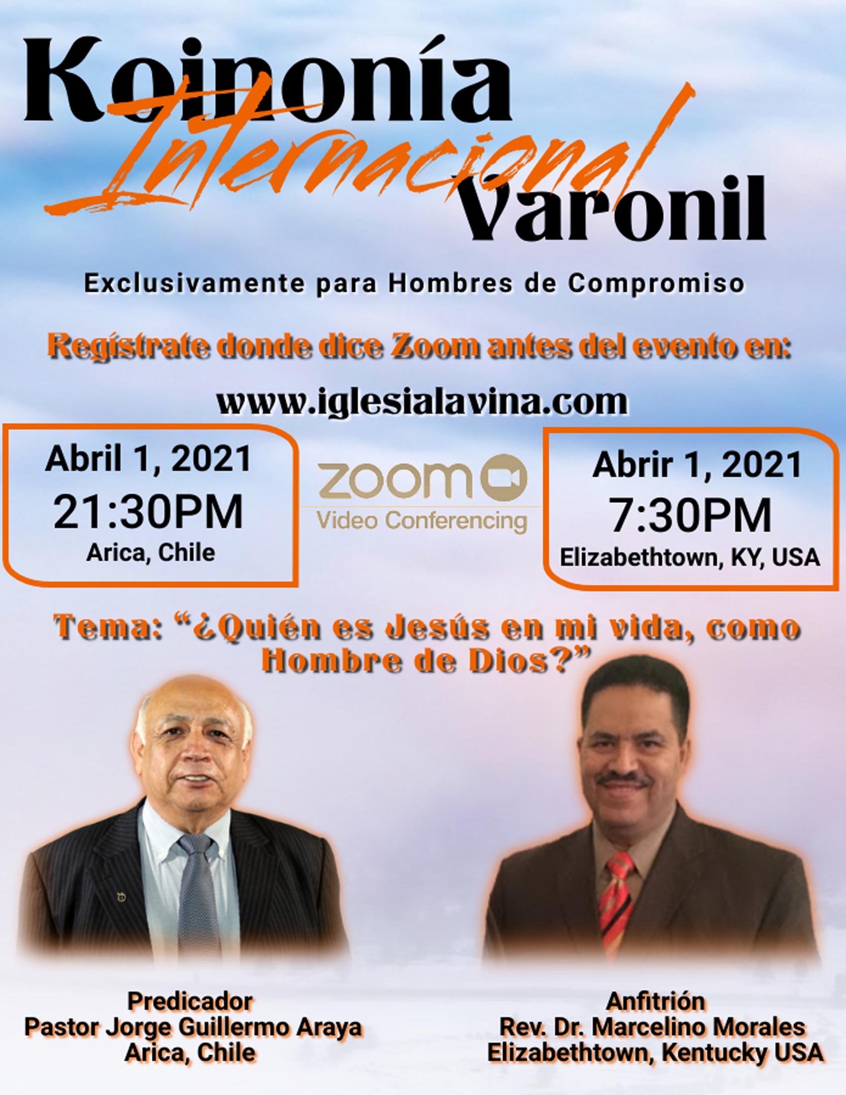 Koinonía 4-1-2021 - Pastor Jorge Guiller