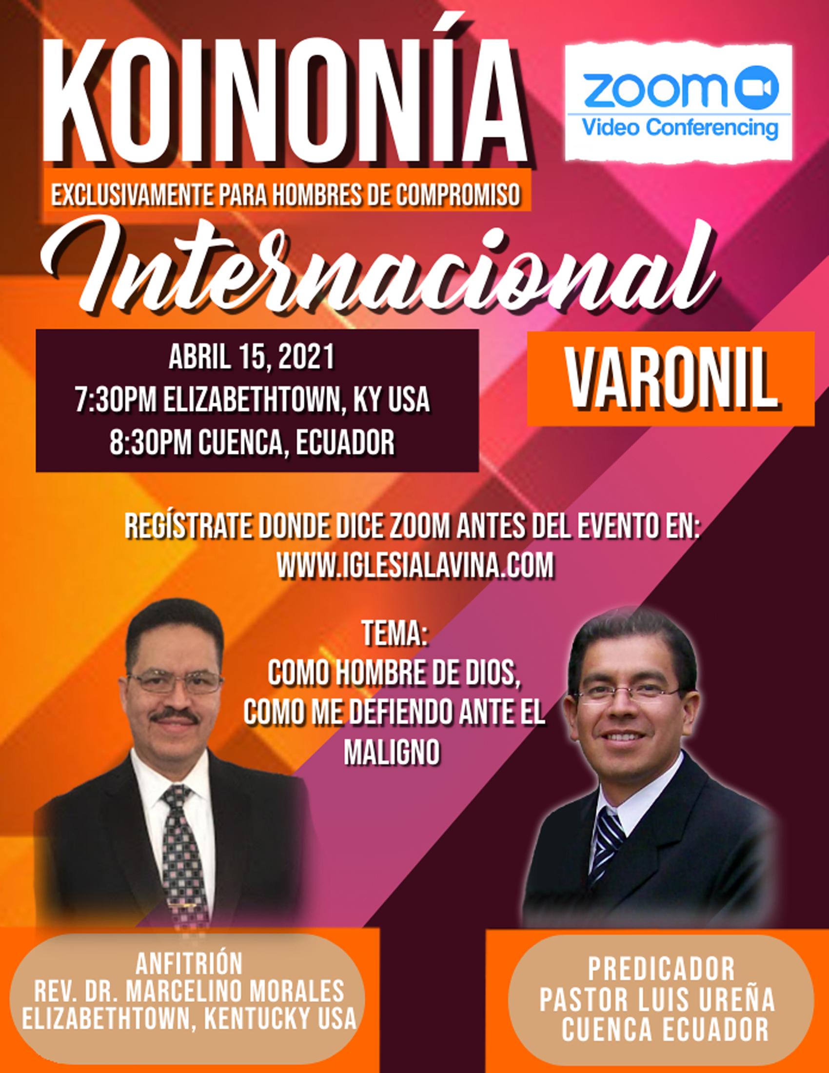 Koinonía 4-15-2021 - Pastor Luis Ureña –