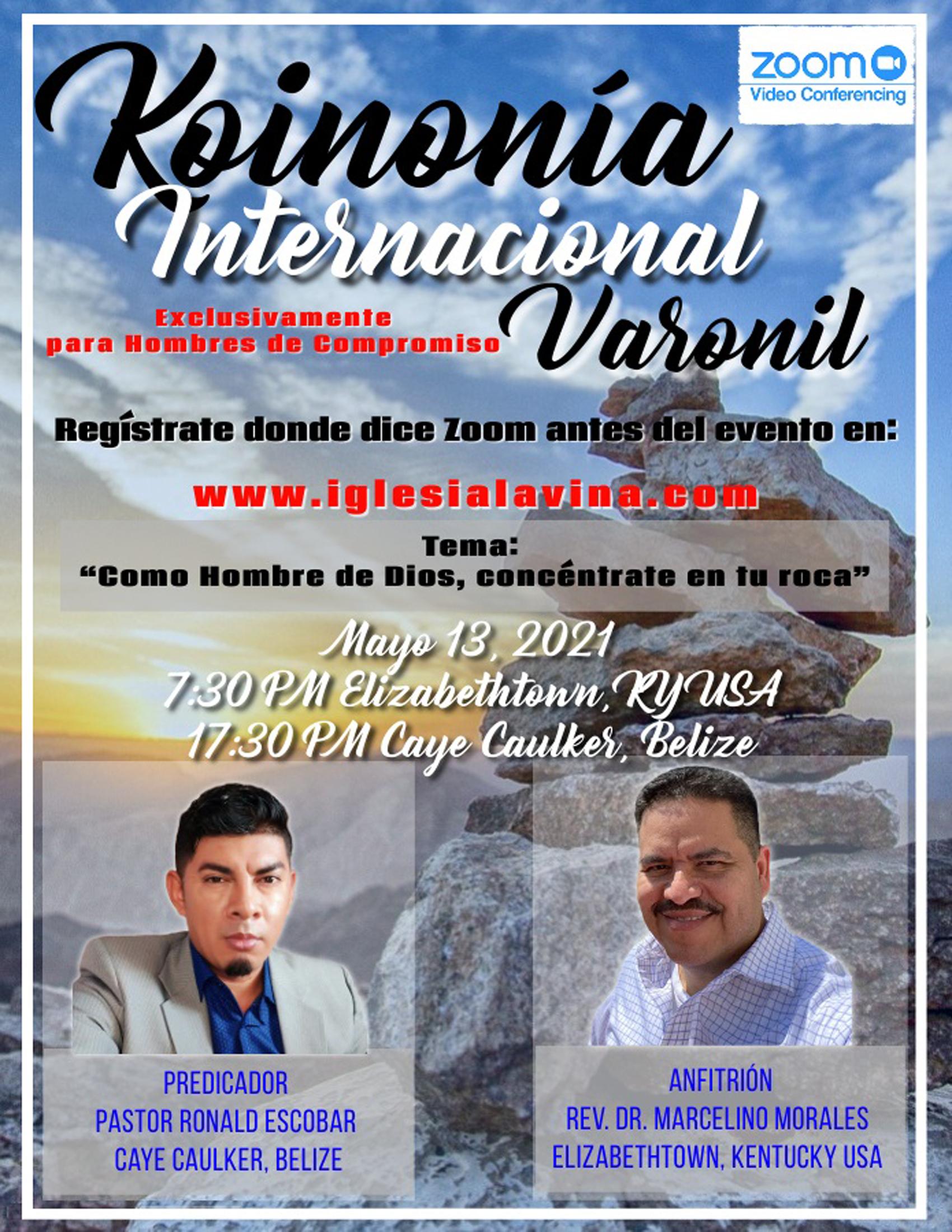 Koinonía 5-13-2021 - Pastor Ronald Escob
