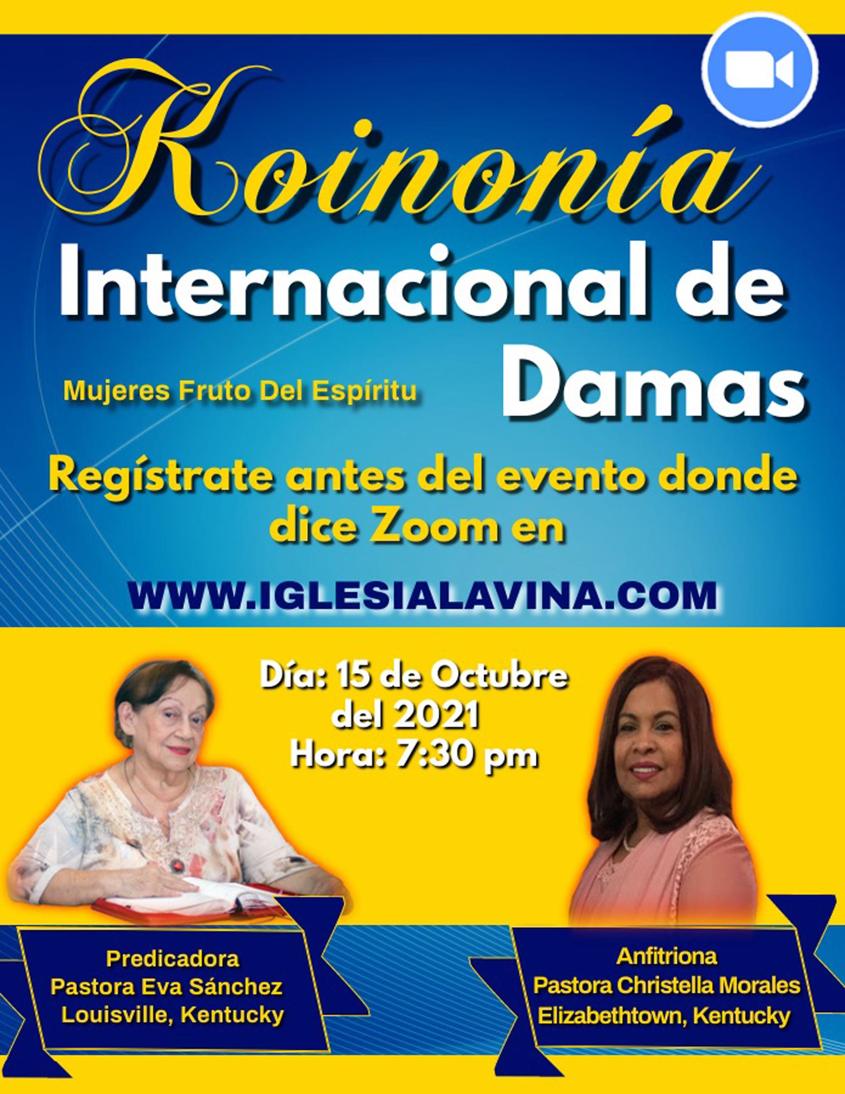 Koinonia de Damas 10-15-2021 Pastora Eva