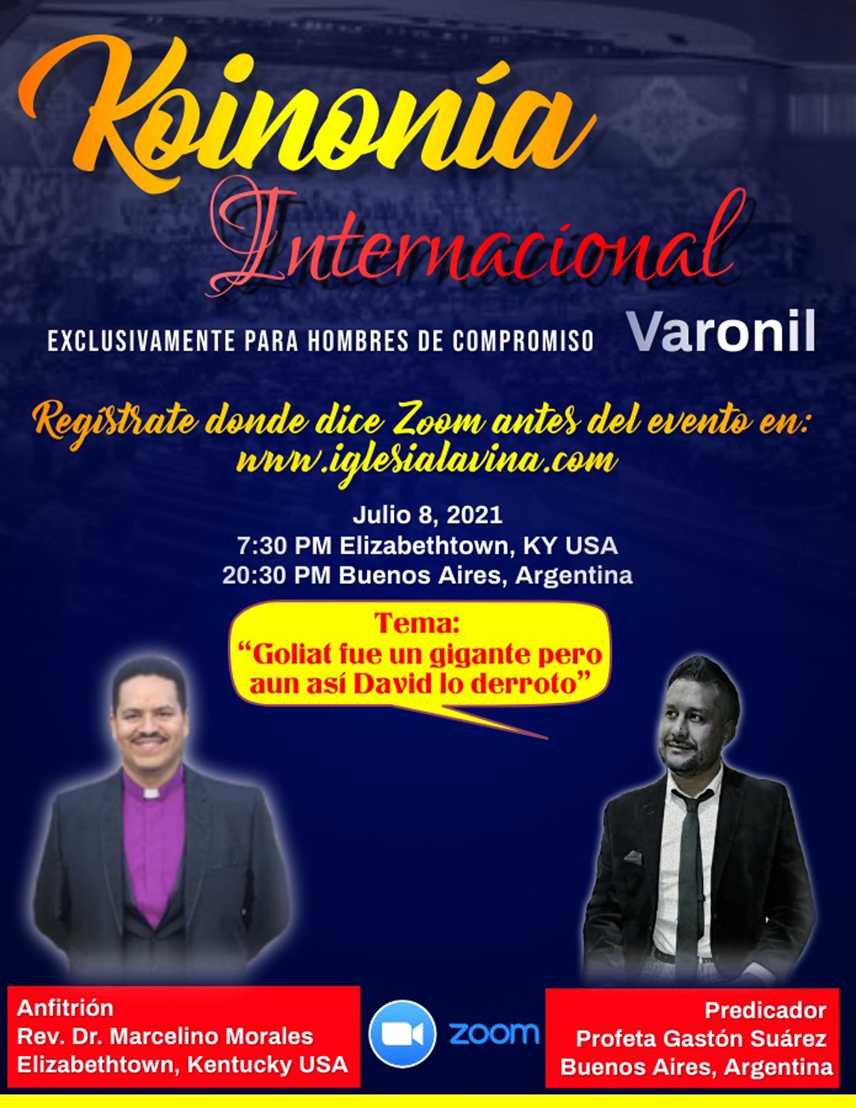 Koinonía 7-8-2021 - Profeta Gastón Suáre