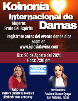 Koinonia de Damas 8-20-2021 - Pastora Di