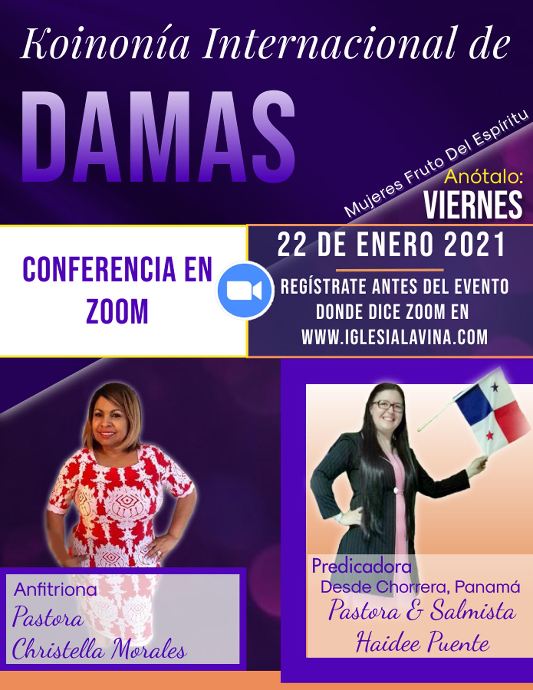Koinonia de Damas 1-22-2021 - Pastora Ha