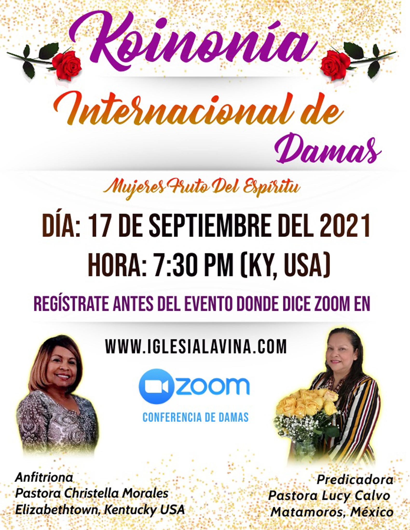 Koinonia de Damas 9-17-2021 - Pastora Lu