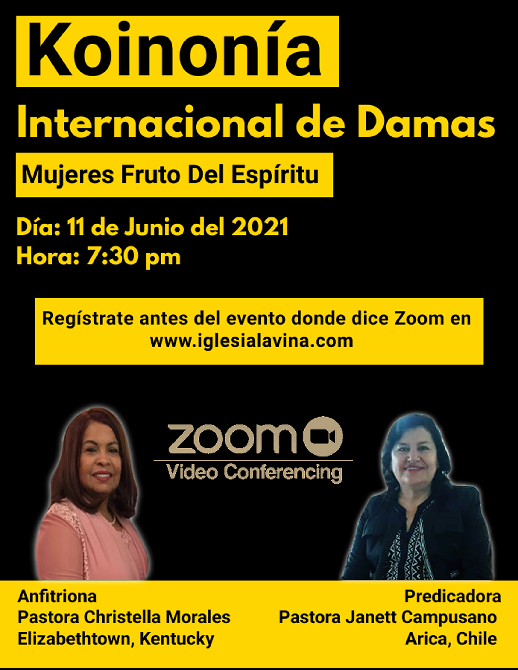 Koinonia de Damas 6-11-2021 - Pastora Ja