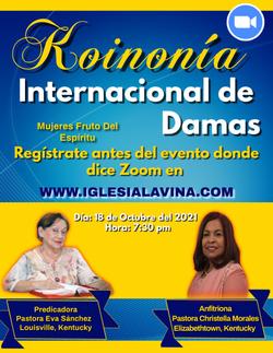Koinonia de Damas 10-18-2021 Pastora Eva Sánchez – Louisville, Kentucky