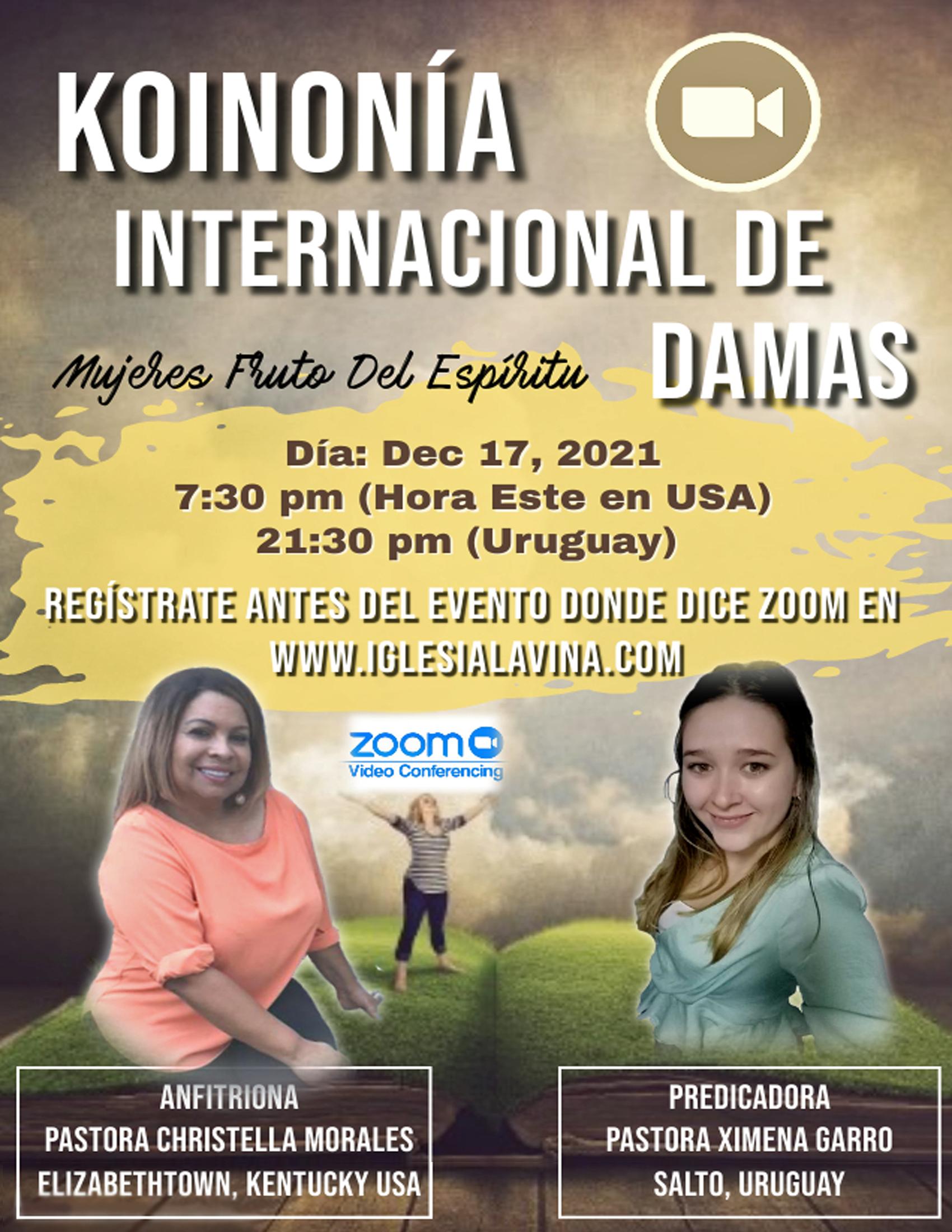 Koinonia de Damas 12-17-2021 Pastora Xim