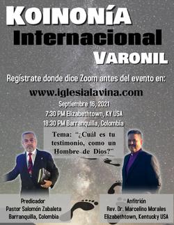 Koinonía 9-16-2021 - Pastor Salomon Zaba
