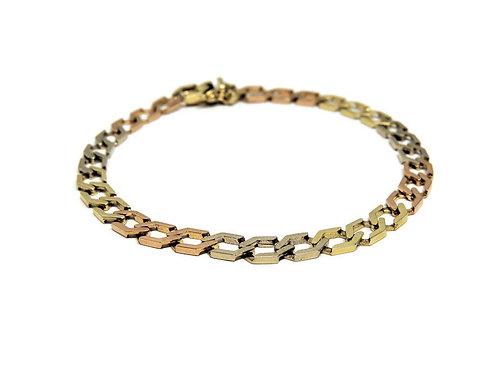 14k Tri-Gold Bracelet
