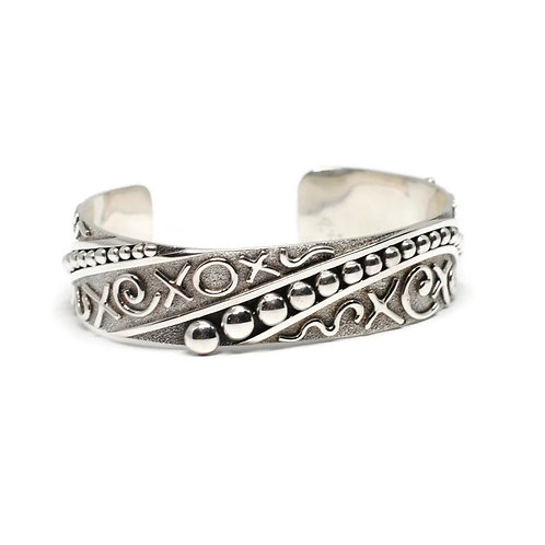 XO Cuff Bracelet by Karl Kunc