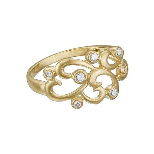 Diamond Curls Ring