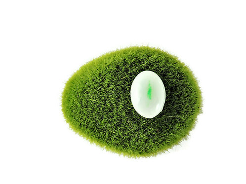 Oval Imperial Green in Moss Jadeite