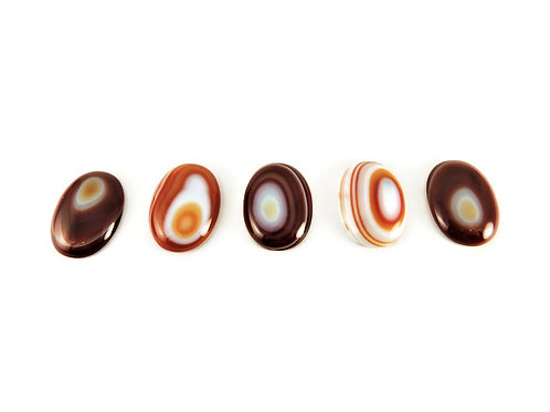 Oval Brown Bullseye Agate Cabochons