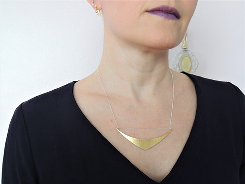 Large Gold Sail Necklace by Mysterium