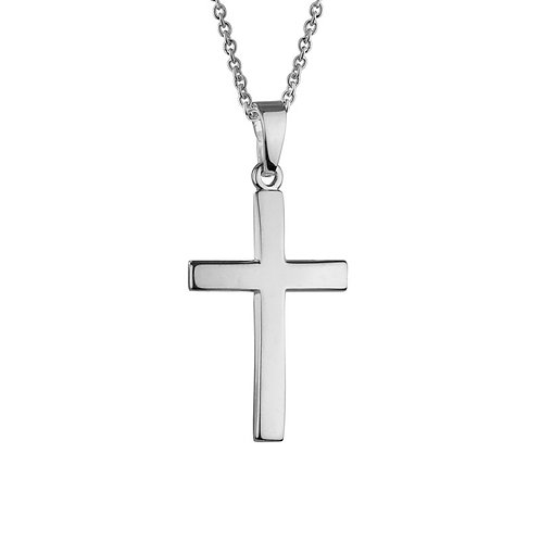 Contour Cross Necklace